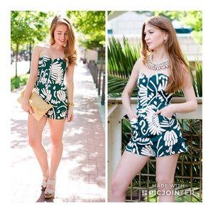 H&M Tropical Green Leaf Print Romper 6